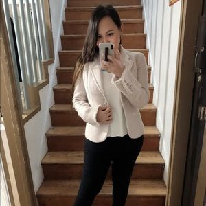 Elie Tahari Lilac Tweed Blazer - Size 0
